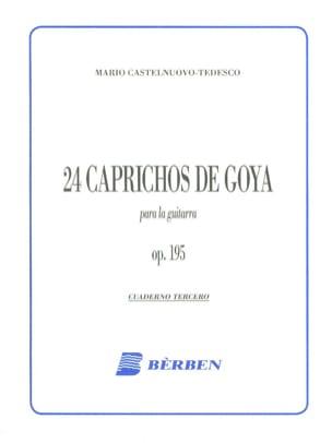 Mario Castelnuovo-Tedesco - 24 Caprichos de Goya - 3 - Partition - di-arezzo.fr