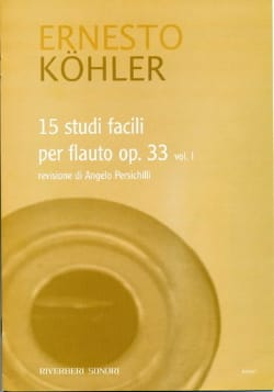 15 Studi Facili Op. 33 Volume 1 Ernesto KÖHLER Partition laflutedepan