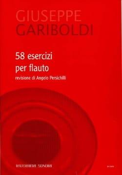 Giuseppe Gariboldi - 58 Exercices Pour Flûte - Partition - di-arezzo.fr