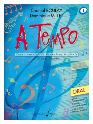 BOULAY - MILLET - A Tempo Volume 6 - Oral - Partition - di-arezzo.fr