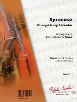 Syracuse - Dimey / Salvador Henry - Partition - laflutedepan.com