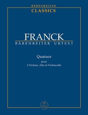 César Franck - Quatuor à Cordes - Partition - di-arezzo.fr