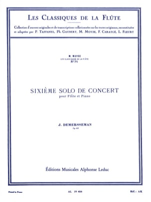 Jules Demersseman - 6th Solo concert op. 82 - Flute and piano - Sheet Music - di-arezzo.com