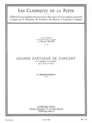 Jules Demersseman - Grande fantaisie de concert op. 52 - Partition - di-arezzo.fr
