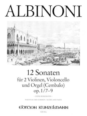 12 Sonates Vol.3 - Op.1 N°7-9 Tomaso Albinoni Partition laflutedepan