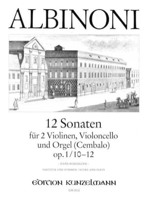 Tomaso Albinoni - 12 Sonatas Vol.4 - Op.1 N ° 10-12 - Sheet Music - di-arezzo.co.uk