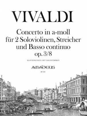 Concerto En la Min.Op.3 N°8 - VIVALDI - Partition - laflutedepan.com