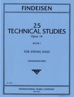 Theodor A. Findeisen - 25 Technical Studies Op.14 Volume 1 - Partition - di-arezzo.fr
