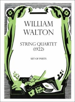 Quatuor A Cordes 1922 William Walton Partition Quatuors - laflutedepan