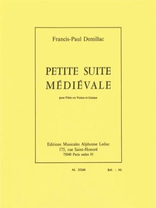 Francis-Paul Demillac - Petite suite médiévale - Partition - di-arezzo.fr