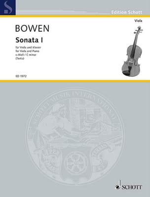 Edwin York Bowen - Sonate N° 1 en do mineur - Partition - di-arezzo.fr