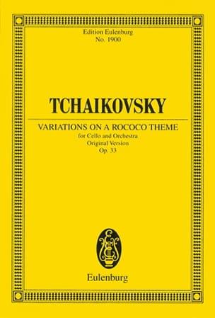 Piotr Illitch Tchaikovski - Variations On A Rococo Theme Op. 33 - Partition - di-arezzo.fr