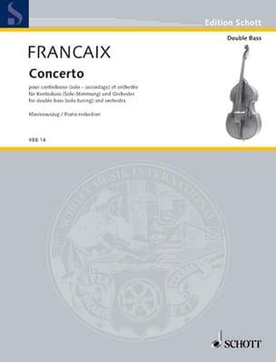 Concerto 1974 - FRANÇAIX - Partition - Contrebasse - laflutedepan.com