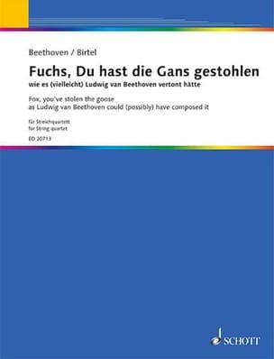 Fuchs, Du Hast Die Gans Gestohlen Wie Es Vielleicht Beethoven Vertont Hätte - laflutedepan.com