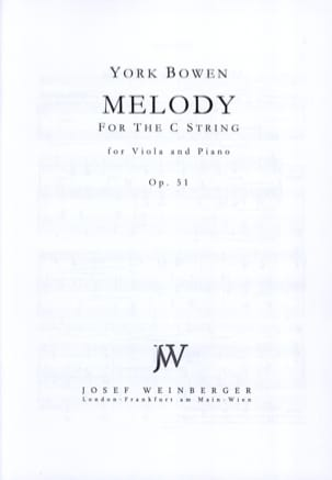 Mélody Op. 51 - Edwin York Bowen - Partition - Alto - laflutedepan.com