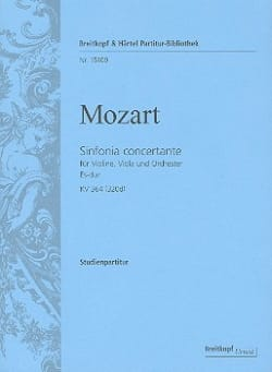 Wolfgang Amadeus Mozart - Sinfonia Concertante Kv 364 (320d) - Partition - di-arezzo.fr