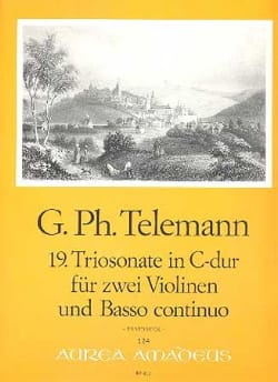 Georg Philipp Telemann - 19.Trio Sonate C-Dur - 2 Violinen-Bc - Partition - di-arezzo.fr