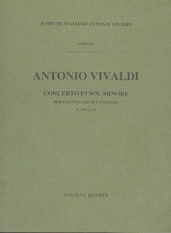 Antonio Vivaldi - Concerto en sol min. - F. 8 n° 23 - Partitura - Partition - di-arezzo.fr