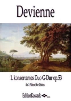 François Devienne - Duo Concertant en Sol Maj. Op.53 N°1 - Partition - di-arezzo.fr
