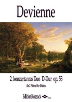 Duo Concertant en Ré Maj. opus 53 n° 2 DEVIENNE Partition laflutedepan