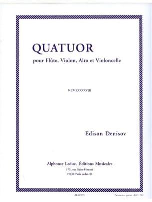 Edison Denisov - Quartet - Flute, violin, viola and cello - Cond. - Sheet Music - di-arezzo.com