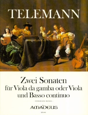TELEMANN - 2 Sonatas for Viola da Gambe and Basso Continuo - Sheet Music - di-arezzo.co.uk