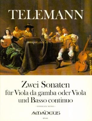 Georg Philipp Telemann - 2 Sonates pour Viole de Gambe et Basse Continue - Partition - di-arezzo.fr