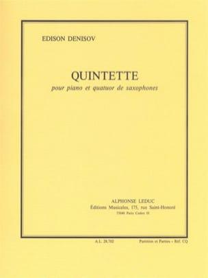 Edison Denisov - Quintette –piano quatuor de saxophones - Partition - di-arezzo.fr