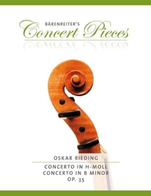 Oskar Rieding - Concierto para violín en si menor Op. 35 - Partitura - di-arezzo.es