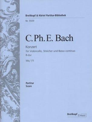 Concerto Pour Violoncelle et Orchestre En Si B Majeur Wq 171 - laflutedepan.com