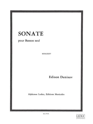 Sonate - Basson seul - Edison Denisov - Partition - laflutedepan.com