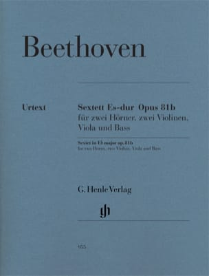 BEETHOVEN - Sextet in E flat major op. 81b - Sheet Music - di-arezzo.com