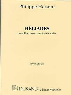 Philippe Hersant - Héliades - Partition - di-arezzo.fr