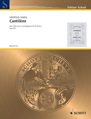 Leopold Jansa - Cantilène Op.84 - Partition - di-arezzo.fr