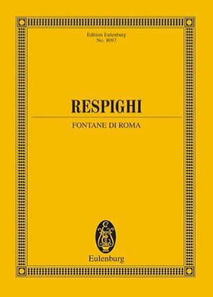 Fontane Di Roma 1916 RESPIGHI Partition Grand format - laflutedepan