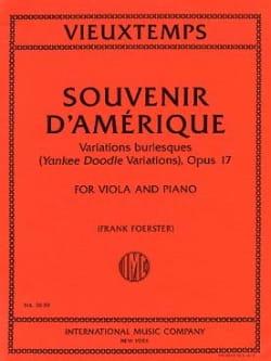 Henri Vieuxtemps - Souvenir d' Amérique Opus 17 - Partition - di-arezzo.fr