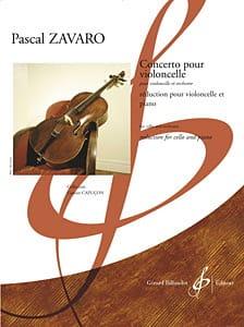 Concerto Pour Violoncelle Pascal Zavaro Partition laflutedepan