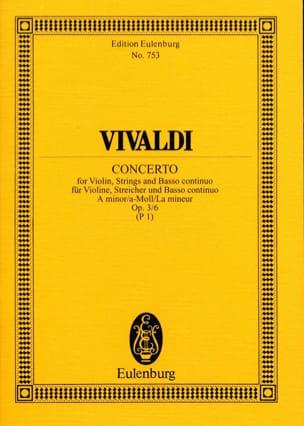 VIVALDI - Concerto A-Moll The Min., Op. 3 N ° 6 - Sheet Music - di-arezzo.com
