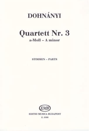 Strinq Quartet Op.33 N°3 - Parts - DOHNÁNYI - laflutedepan.com