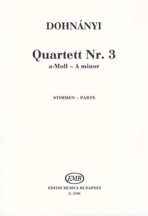 DOHNÁNYI - Strinq Quartet Op.33 N°3 - Parts - Partition - di-arezzo.fr