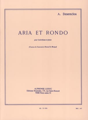 Alfred Desenclos - Aria and Rondo - Sheet Music - di-arezzo.co.uk