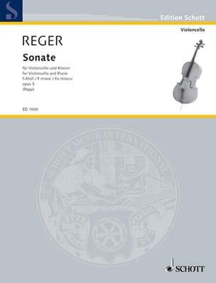 Max Reger - Sonate Op. 5 en Fa Mineur - Partition - di-arezzo.fr