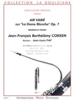 Jean-François Cokken - Air Varié sur La Dame Blanche Op. 7 - Partition - di-arezzo.fr