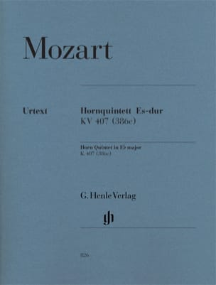 MOZART - Quintet for horn in E flat major KV 407 386c - Sheet Music - di-arezzo.co.uk