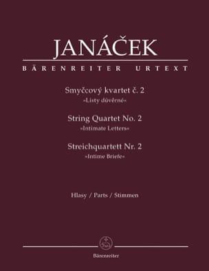 Quatuor à Cordes N° 2 JANACEK Partition Quatuors - laflutedepan