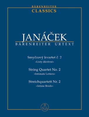 Quatuor à Cordes N° 2 Lettres Intimes JANACEK Partition laflutedepan