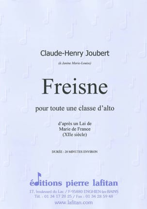 Claude-Henry Joubert - Freisne According to a Lai of Mary of France XII s. - Sheet Music - di-arezzo.com