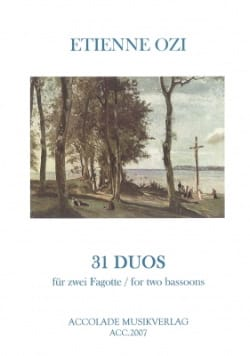 Etienne Ozi - 31 Duos aus der New Method of Basson Dassonville - Sheet Music - di-arezzo.com