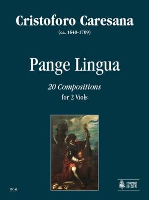 Cristoforo Caresana - Pange Lingua - Sheet Music - di-arezzo.com