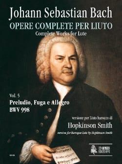 BACH - Prelude, Fugue et Allegro BWV 998 - Partition - di-arezzo.fr